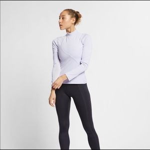 Nike Tops - Nike Pro Mesh-Trimmed Ribbed Stretch-Jersey Top